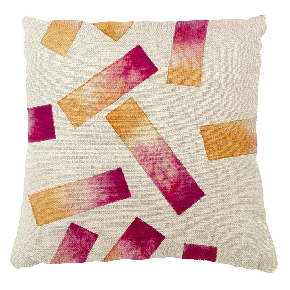 Irregular Distribution Geometric Shape  Gradient Color Home Adornment Cushion Cover Pillowcase - COLORMIX 16INCH X16INCH