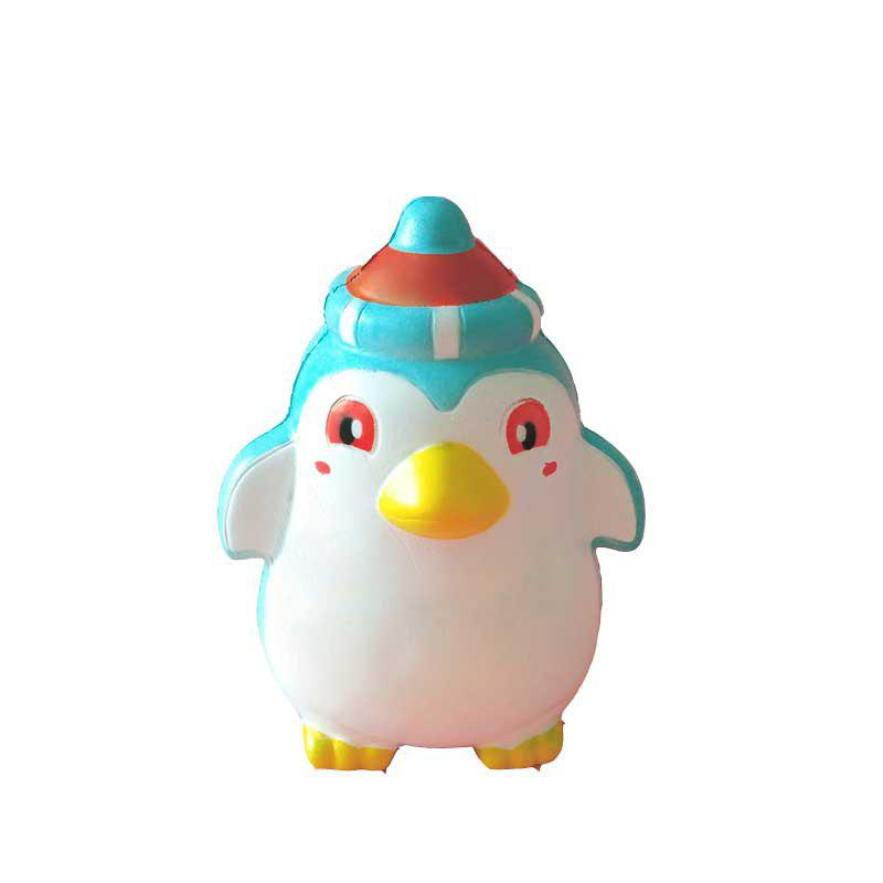 Jumbo Squishy PU Slow Rising Stress Relief Toy Replica Christmas Penguins for Adults - WHITE