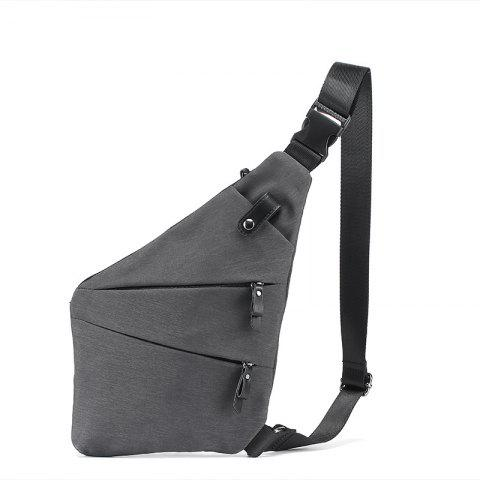 New Crossbody Chest Pack Unique Canvas Cloth Chest Pack Fashion Small Cycling Unbalance Backpack - GRAY