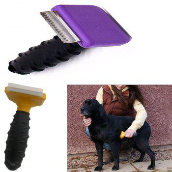 Safe Sanitary Pet Grooming Comb Brush Trimmer Shaver Clipper - PURPLE