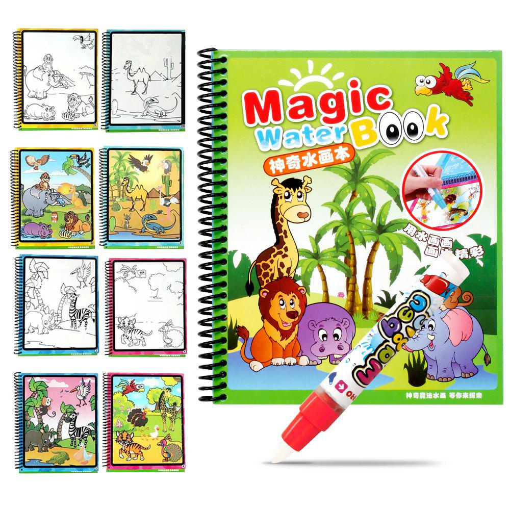 Children Magic Water Painting Writing Board Graffiti Painting Baby Kindergarten Scene Painted Toys Book Copying - COLORMIX TYPEB