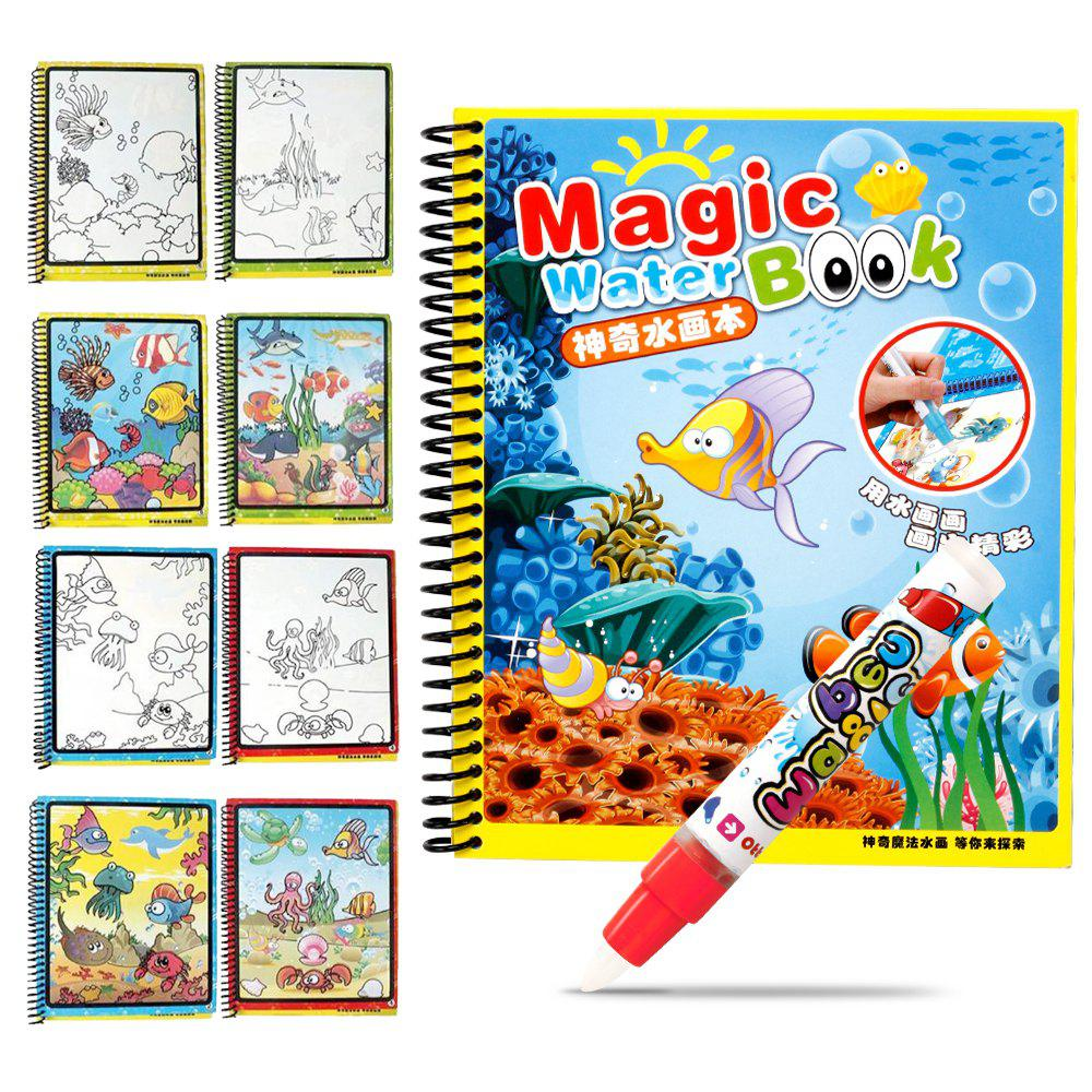 Children Magic Water Painting Writing Board Graffiti Painting Baby Kindergarten Scene Painted Toys Book Copying - COLORMIX TYPEC