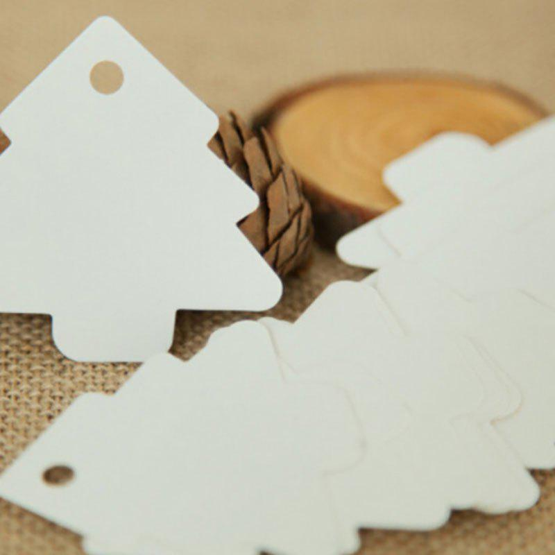 DIHE DIY Arborescence Retro Card Christmas Ornament 50PCS - WHITE