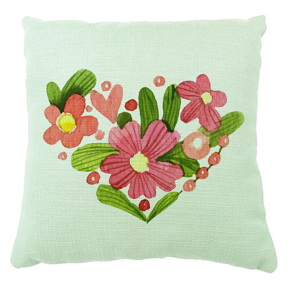 Secret Garden Love Fresh Home Decoration Cotton Linen Cushion Cover - COLORMIX 16INCH X16INCH