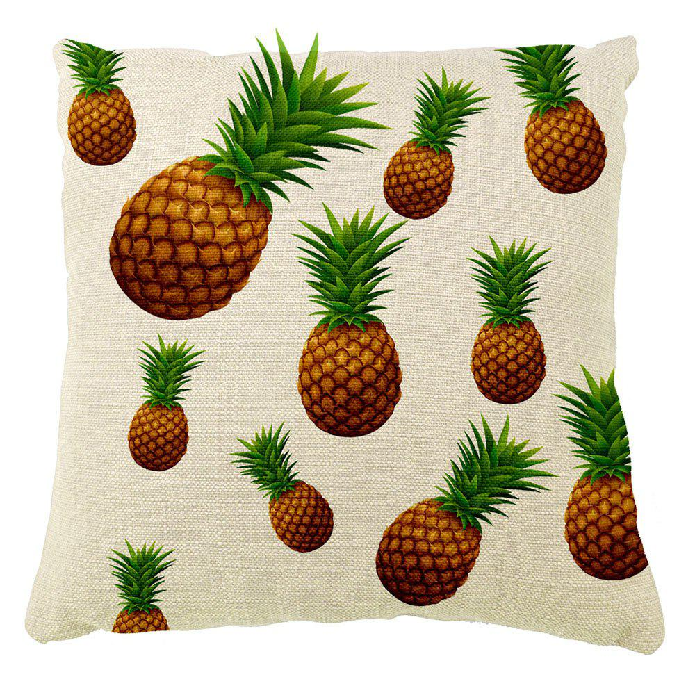 Abstract Pineapple Pattern Home Decorations Cotton Linen Pillowcases Hold - COLORMIX 16INCH X16INCH