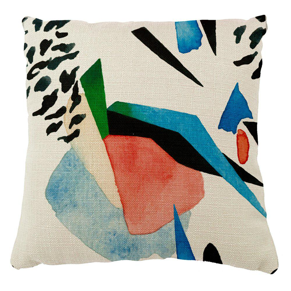 Abstract Geometric Stitching Pattern Cartoon Hand Drawing Home Cushion Cover - COLORMIX 16INCH X16INCH