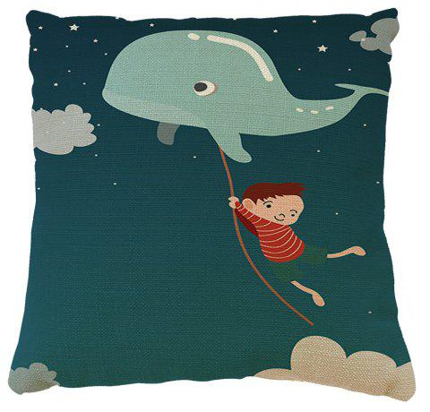 Fairy Tale World Happy Childhood Home Decor Cotton  Linen Cushion Cover - COLORMIX 16INCH X16INCH