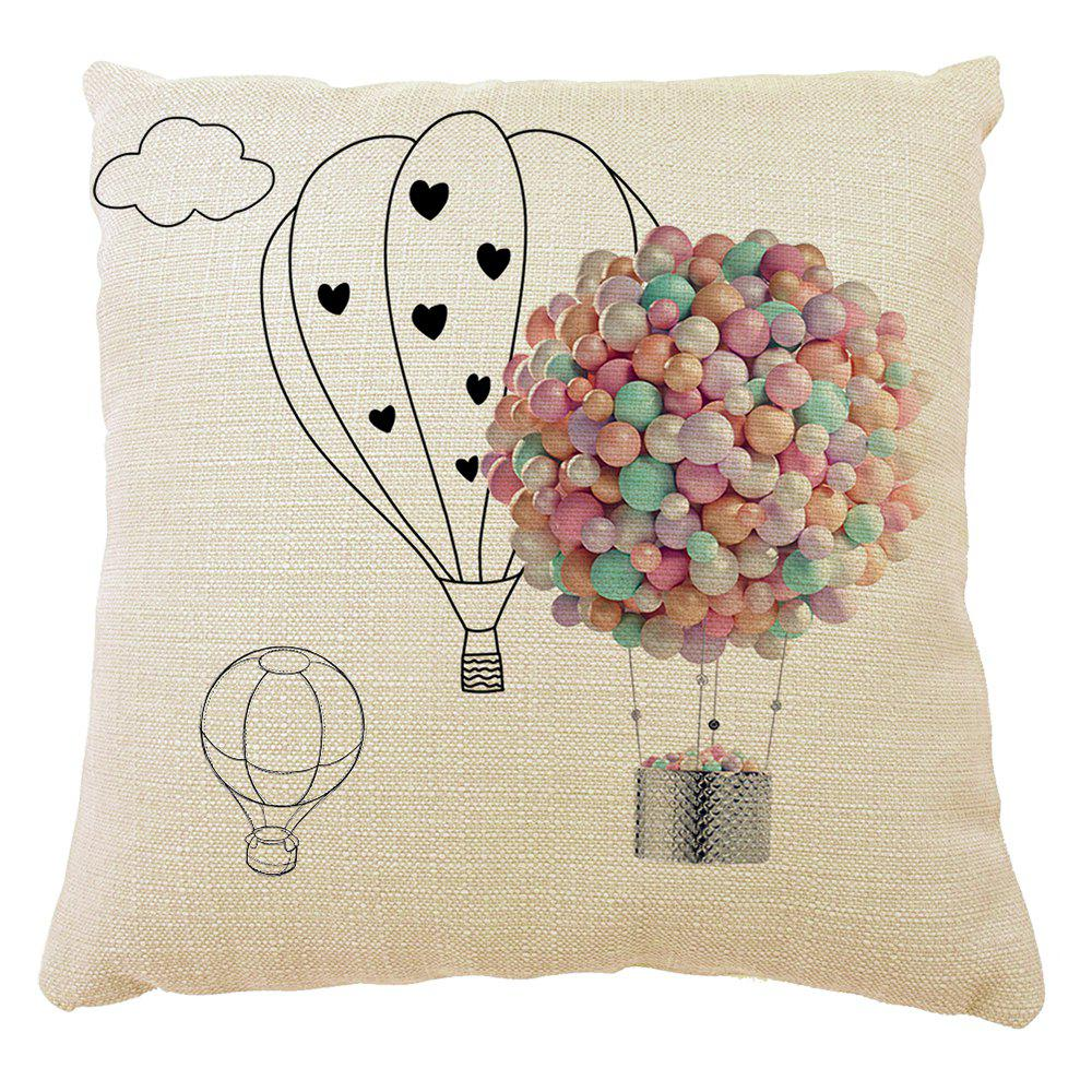 Fresh Hot Air Balloon Love Confession Home Decorative Pillow Case - COLORMIX 16INCH X16INCH