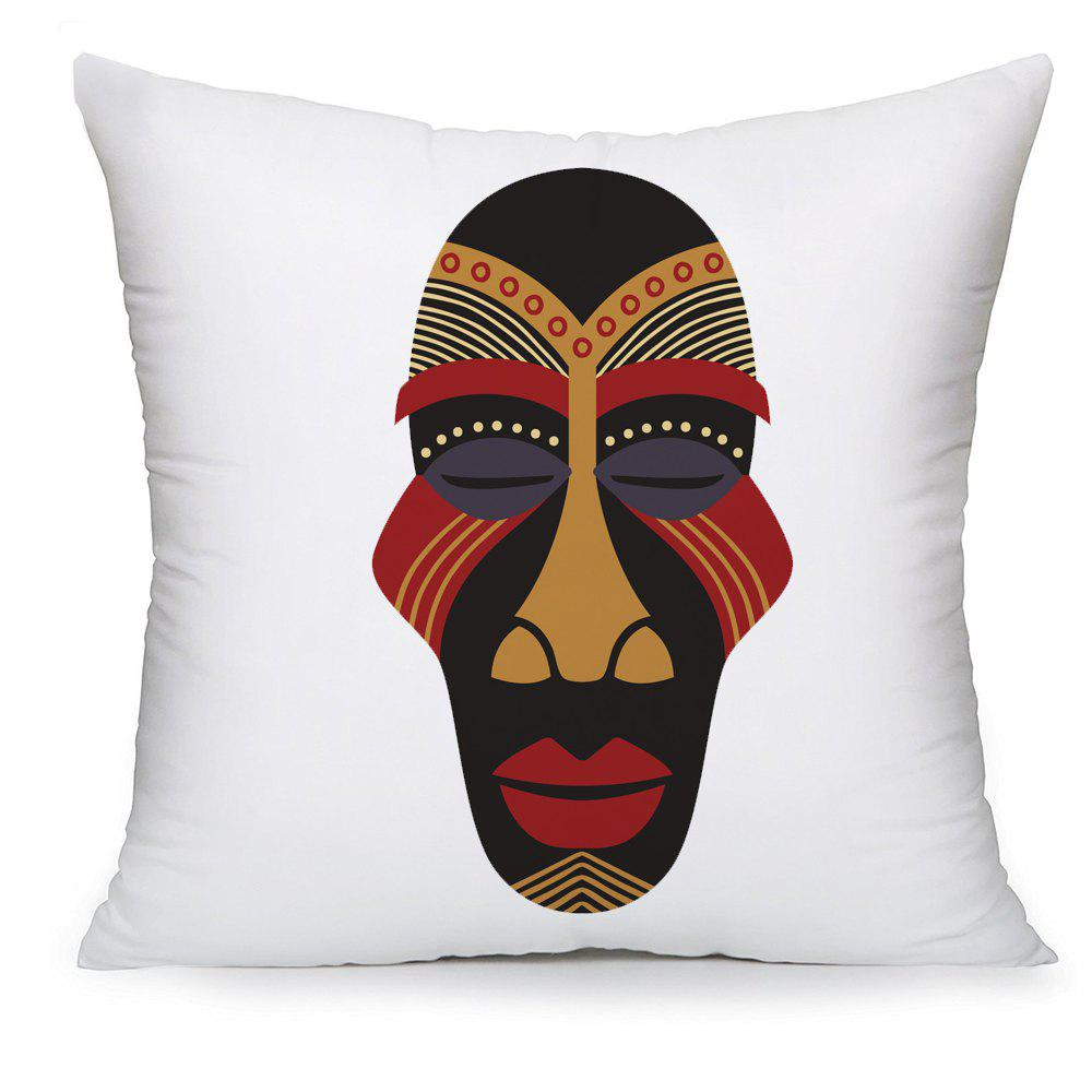 Retro Pattern Series Facial Pattern Pillow Case - COLORMIX 16INCH X16INCH
