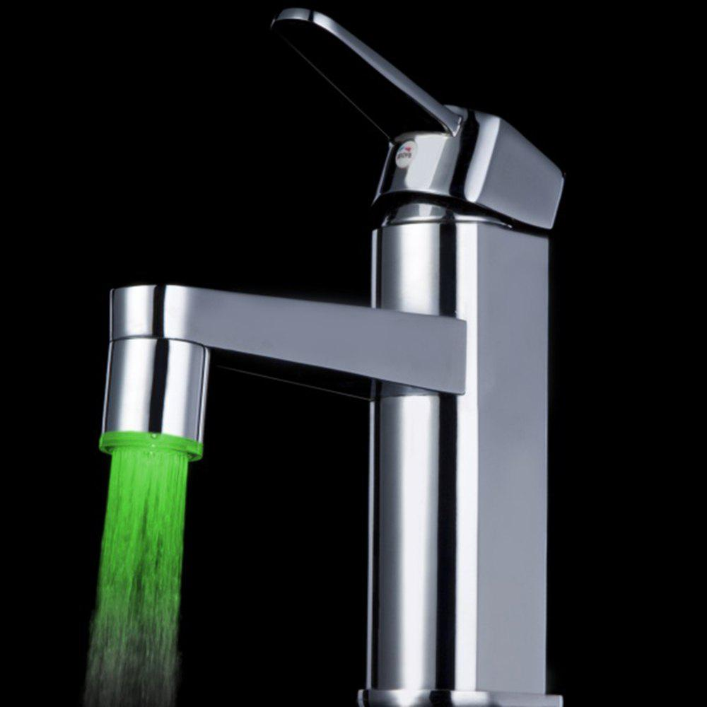 BRELONG LED Monochromatic Light Faucet Lamp - GREEN