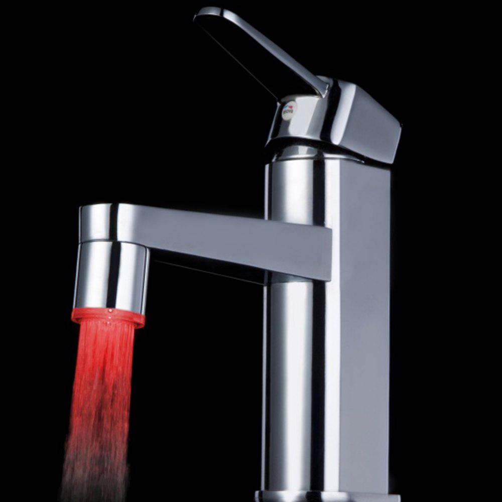 BRELONG LED Monochromatic Light Faucet Lamp - RED