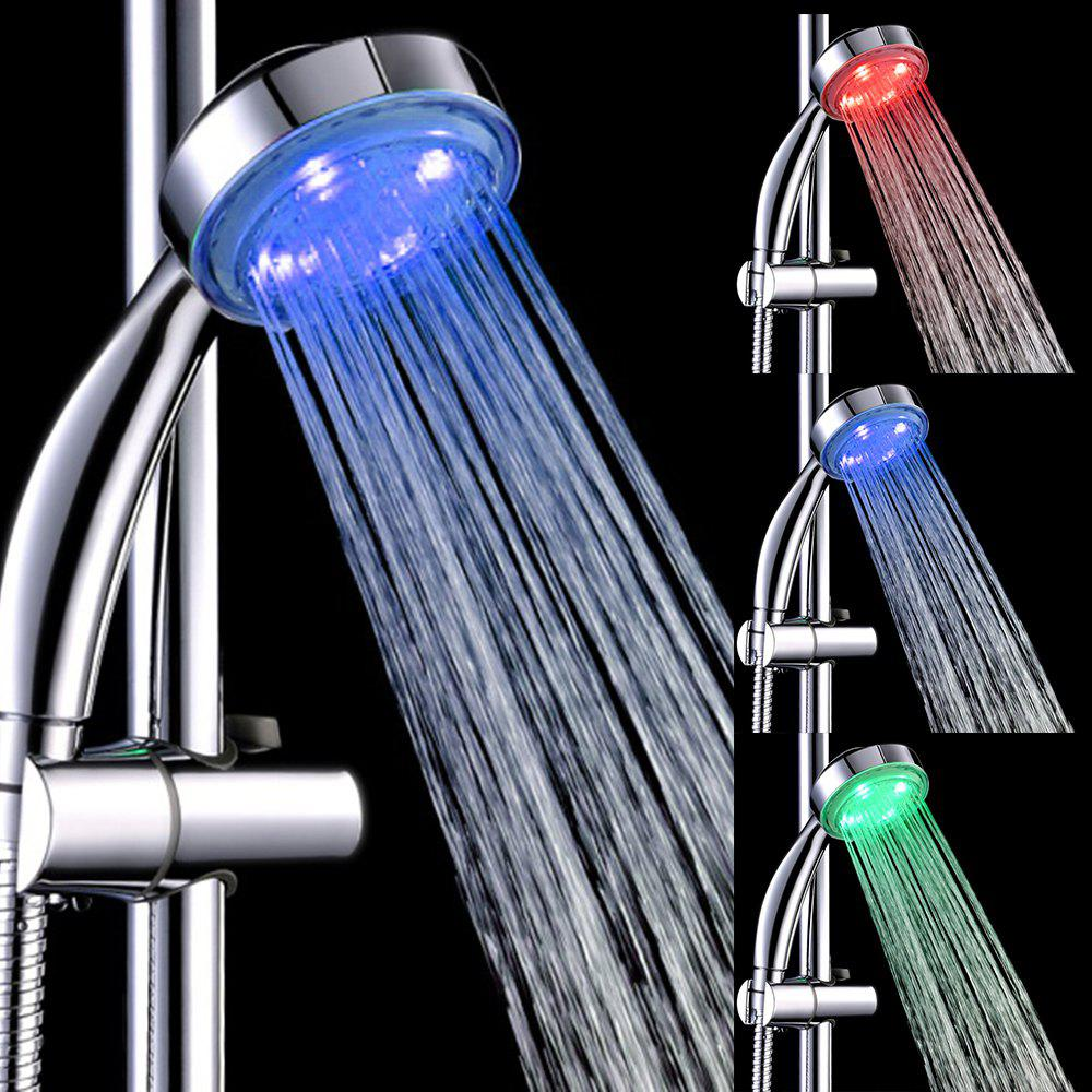 BRELONG LED Temperature Control Three-Color  Shower Head - RGB