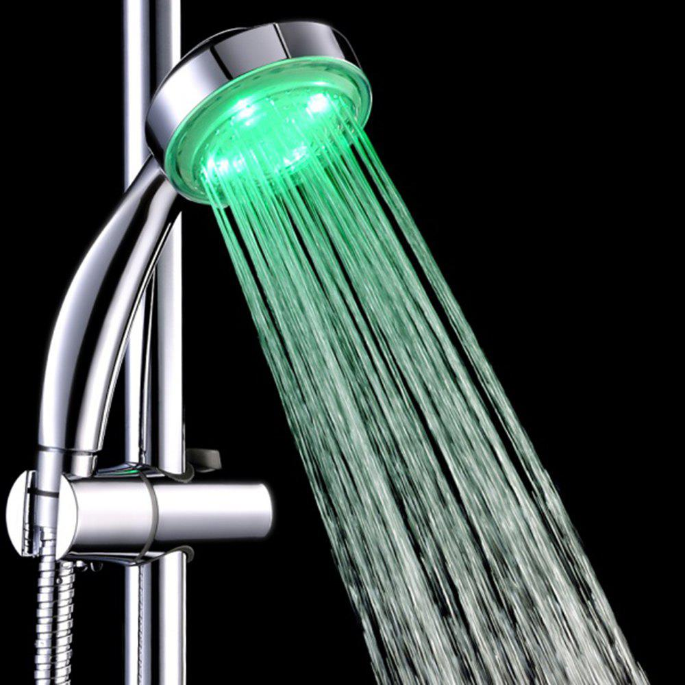 BRELONG LED Monochrome Shower Head  Red  Green  Blue - GREEN