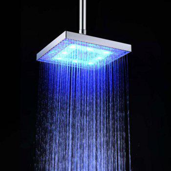 BRELONG 8 - inch LED Colorful Discoloration Square Shower Head Spray - COLORFUL