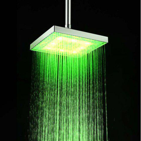 BRELONG 8 - inch LED Monochrome Shower Top Spout  Red Green Blue - GREEN