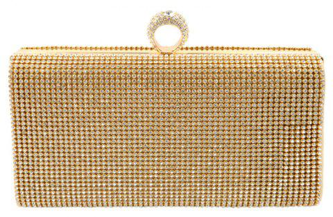Women Evening Bag Rhinestone Sparkling Glitter Wedding Event Party - GOLDEN