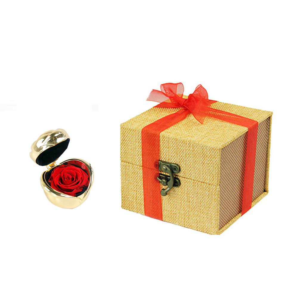 Fresh Preserved Rose Flower Wedding Home Birthday Party Gift - RED