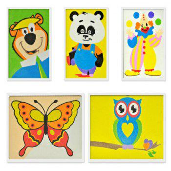 18 Colors Sand Drawing Set Kids DIY Puzzle Handmade Early Education Art Toy - COLORMIX
