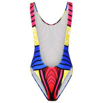 Fashion 3D Print Swimwear Sexy Backless Bikini Bathing Suit - multicolorCOLOR ONE SIZE(FIT SIZE XS TO M)