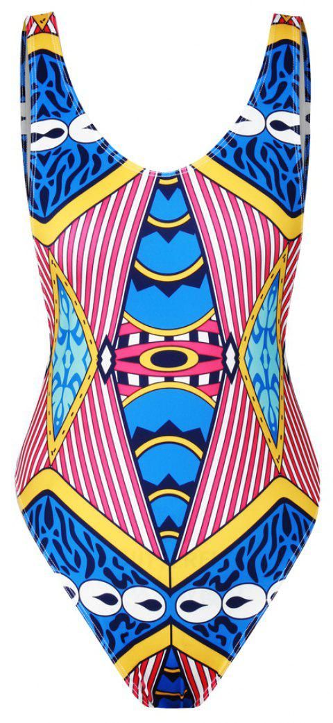 Maillot de bain bikini Backless Quick Print 3D Print maillot de bain - multicolorcouleur ONE SIZE(FIT SIZE XS TO M)