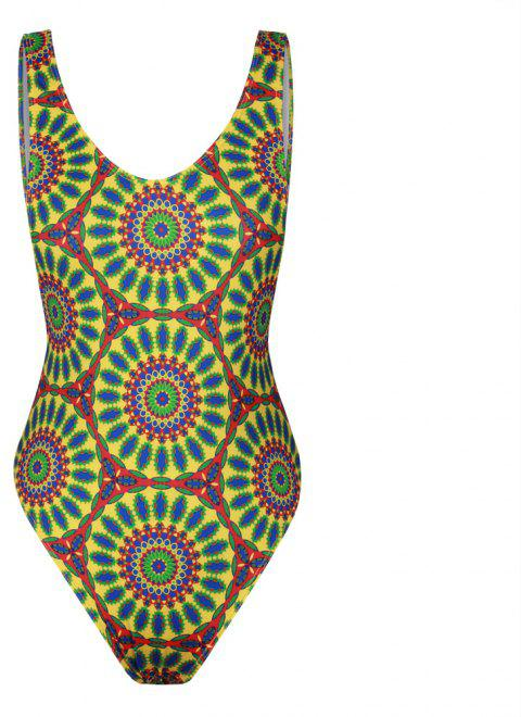 3D Digital Print Swimwear Sexy Backless Bikini Bathing Suit - multicolorCOLOR ONE SIZE(FIT SIZE XS TO M)