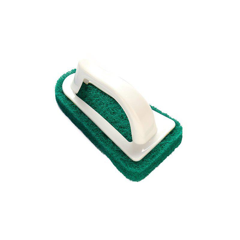 Triangular Sponge Fiber Scouring Pad Cleaning Brush - GREEN 15 X 8 X 8.3CM