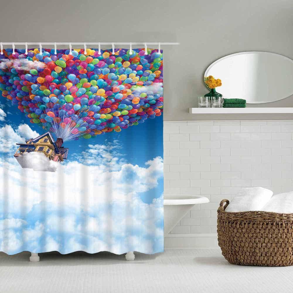 2018 Balloon House Fly to Heaven Bathroom Waterproof Polyester ...