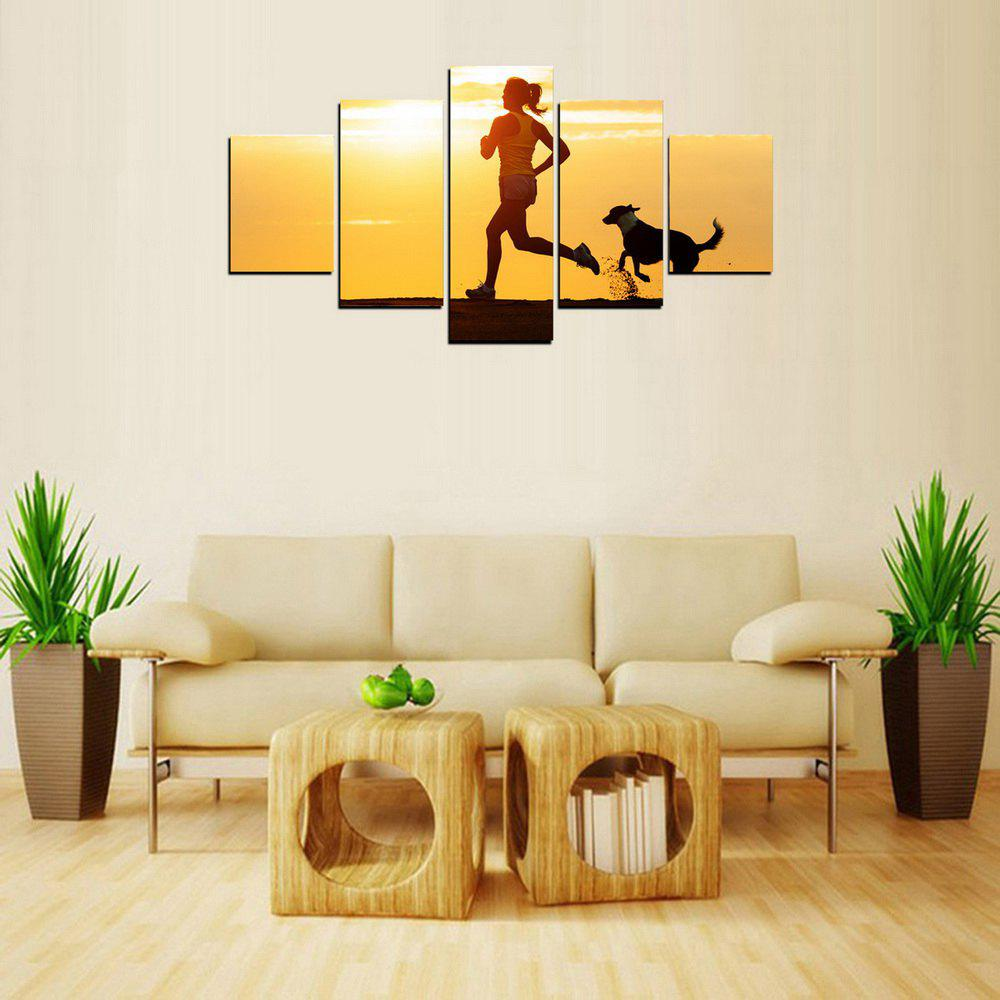 2018 MailingArt FIV423 5 Panels Sports Wall Art Painting Home Decor ...