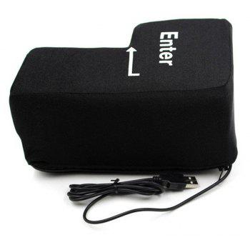 Jumbo Squishy Big Enter Anti Stress Clé Incassable USB Oreiller Bureau Bureau Punch Bag - Noir