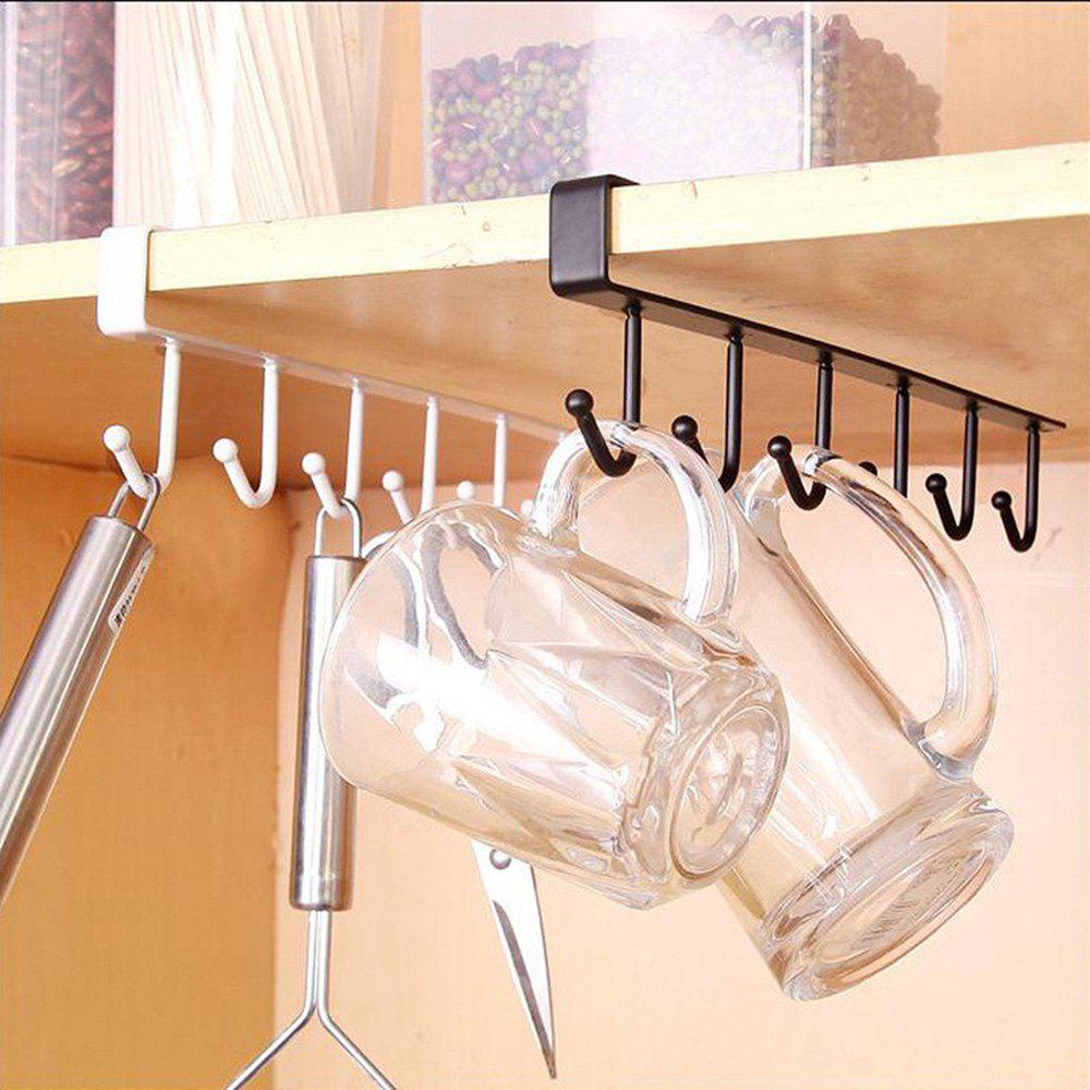 Cupboard Wardrobe Holder Kitchen Storage Rack - BLACK