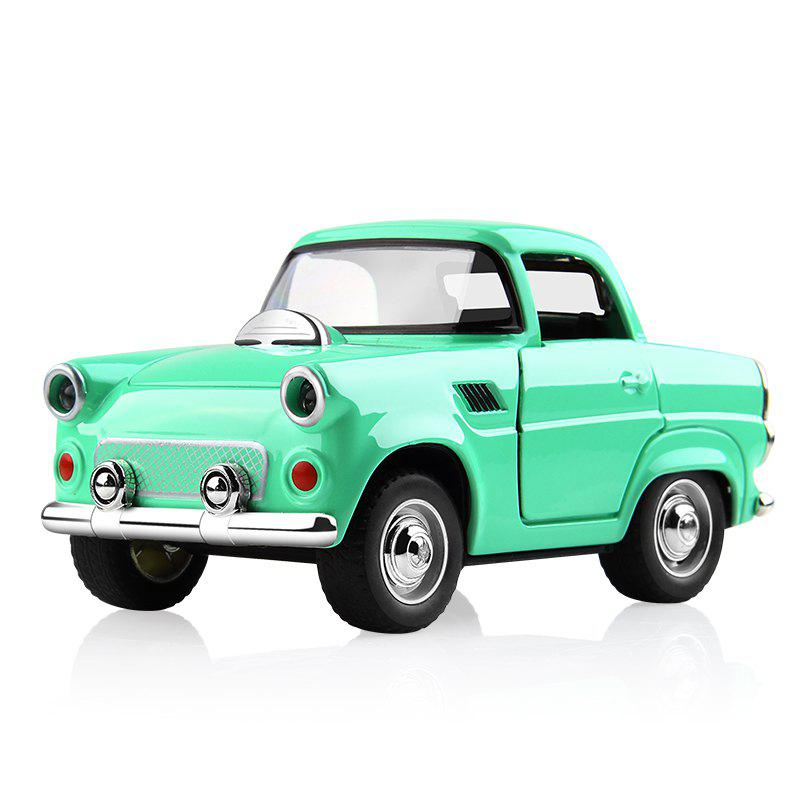 1:38 Alloy Car Pull Back Diecast Model Toy Sound Light Collection Brinquedos Car Vehicle Toys for Boys Children - GREEN 1PC