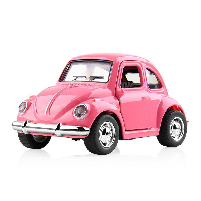 1:38 Alloy Car Pull Back Diecast Model Toy Sound Light Collection Brinquedos Car Vehicle Toys for Boys Children - PINK 1PC