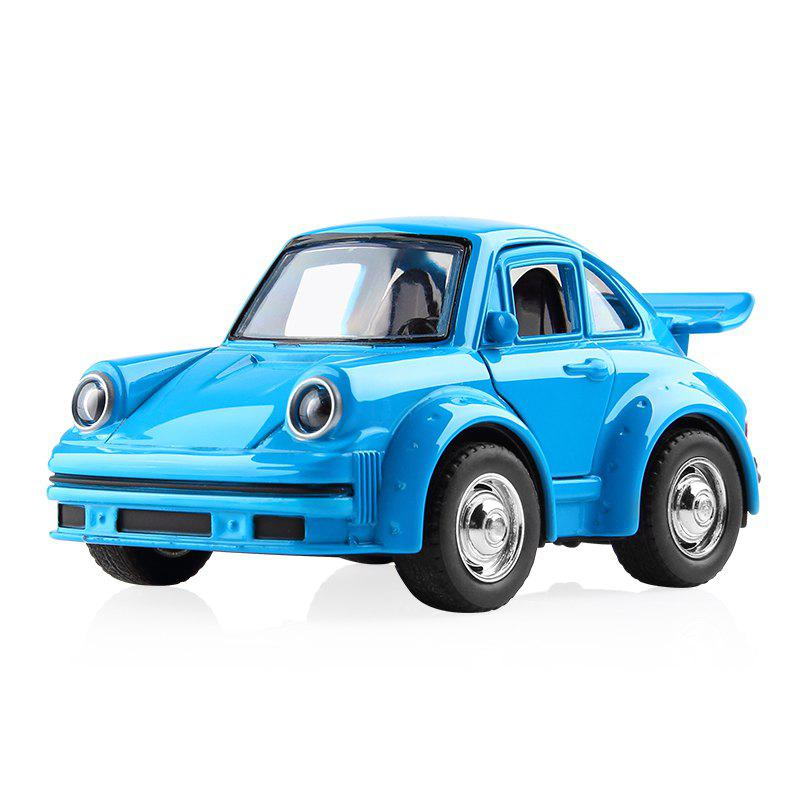 1:38 Alloy Car Pull Back Diecast Model Toy Sound Light Collection Brinquedos Car Vehicle Toys for Boys Children - BLUE 1PC