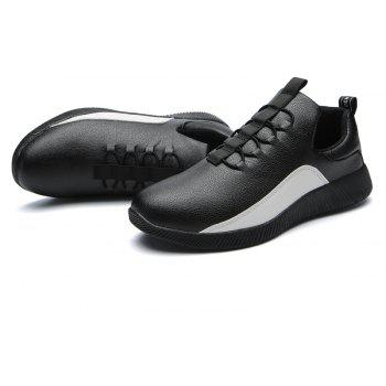 Fashion Breathable Mens Casual  Shoes - BLACK 41