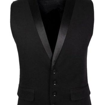 Veste Hommes V Neck Regular Fit Gilet - Noir XL