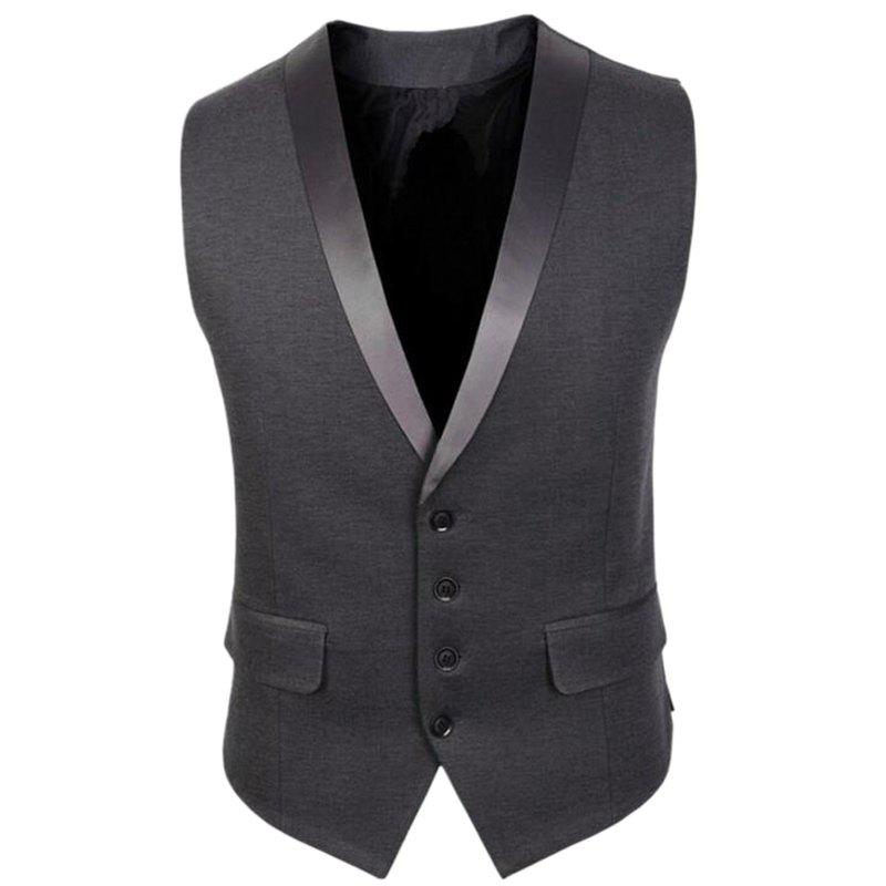 Veste Hommes V Neck Regular Fit Gilet - [