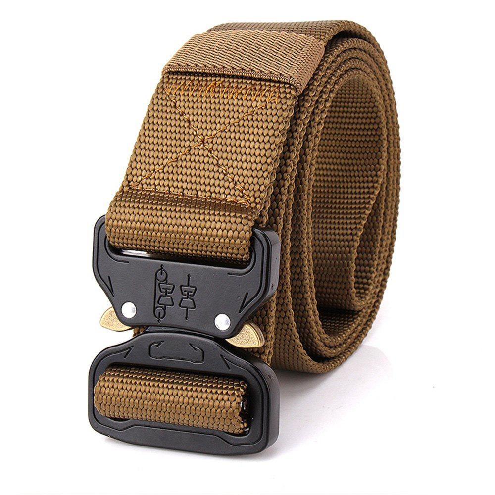 Men Adjustable Combat Web Waistband Rescue Rigger Belt - BROWN