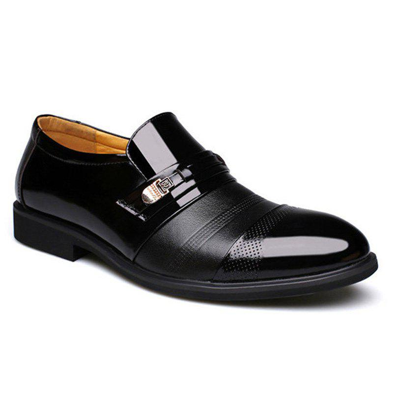 Men Cap Toe Pointed Toe Slip On Business Formal Shoes new arrival men casual business wedding formal dress genuine leather shoes pointed toe lace up derby shoe gentleman zapatos male