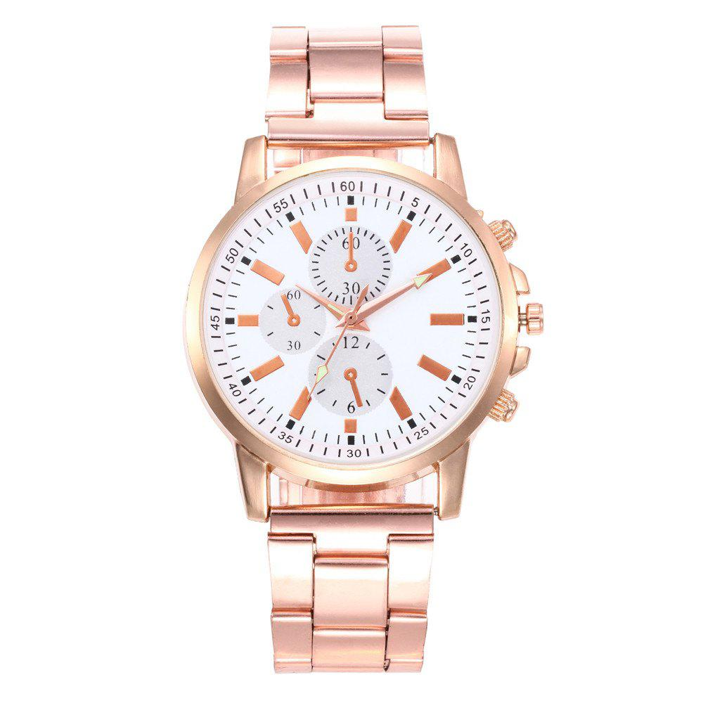 Zhou Lianfa New Trendy Fashion Imitation Three Rose Gold Steel Watch цена 2017