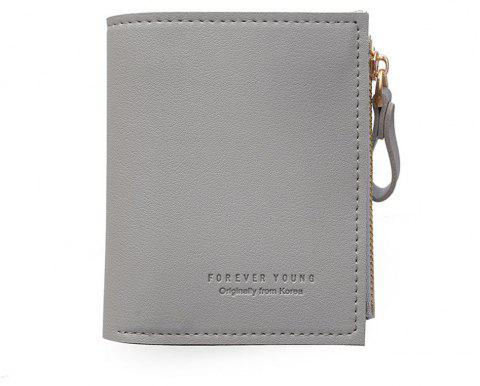 Small Purse Female Short Paragraph Fresh and Slim Personality Multi-functional Folding Student - GRAY