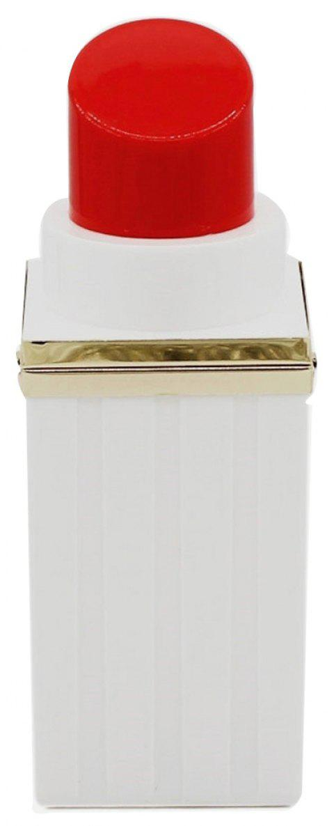 Acrliy Lipstick Shape Evening Clutch Bag - WHITE VERTICAL