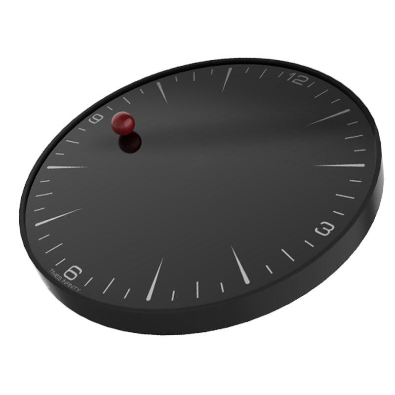 Free Clock Aestheticism of Daily Life Telesonic Quartz Movement - BLACK