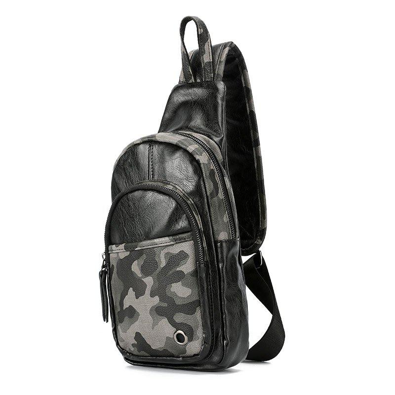 Camouflage Chest Pack Fashion Unbalance Backpack Casual Sling Bag - CAMOUFLAGE