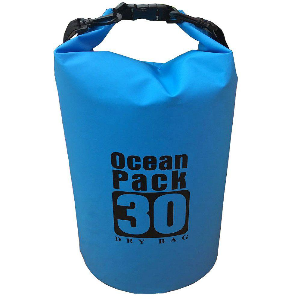 30L Floating Waterproof Bag  for Outdoor Water Sports - BLUE