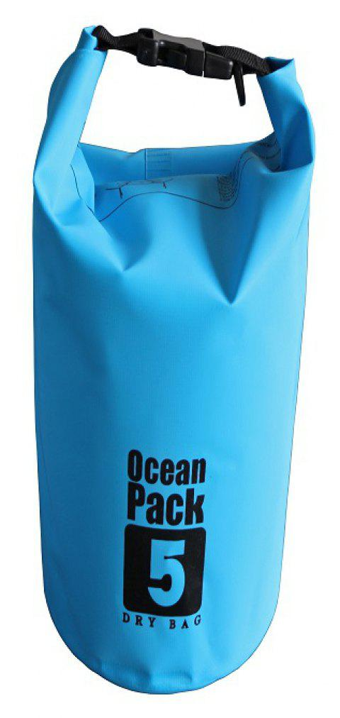 5L PVC Water Resistance Dry Bag Sack for Canoe Floating Boating - DODGER BLUE