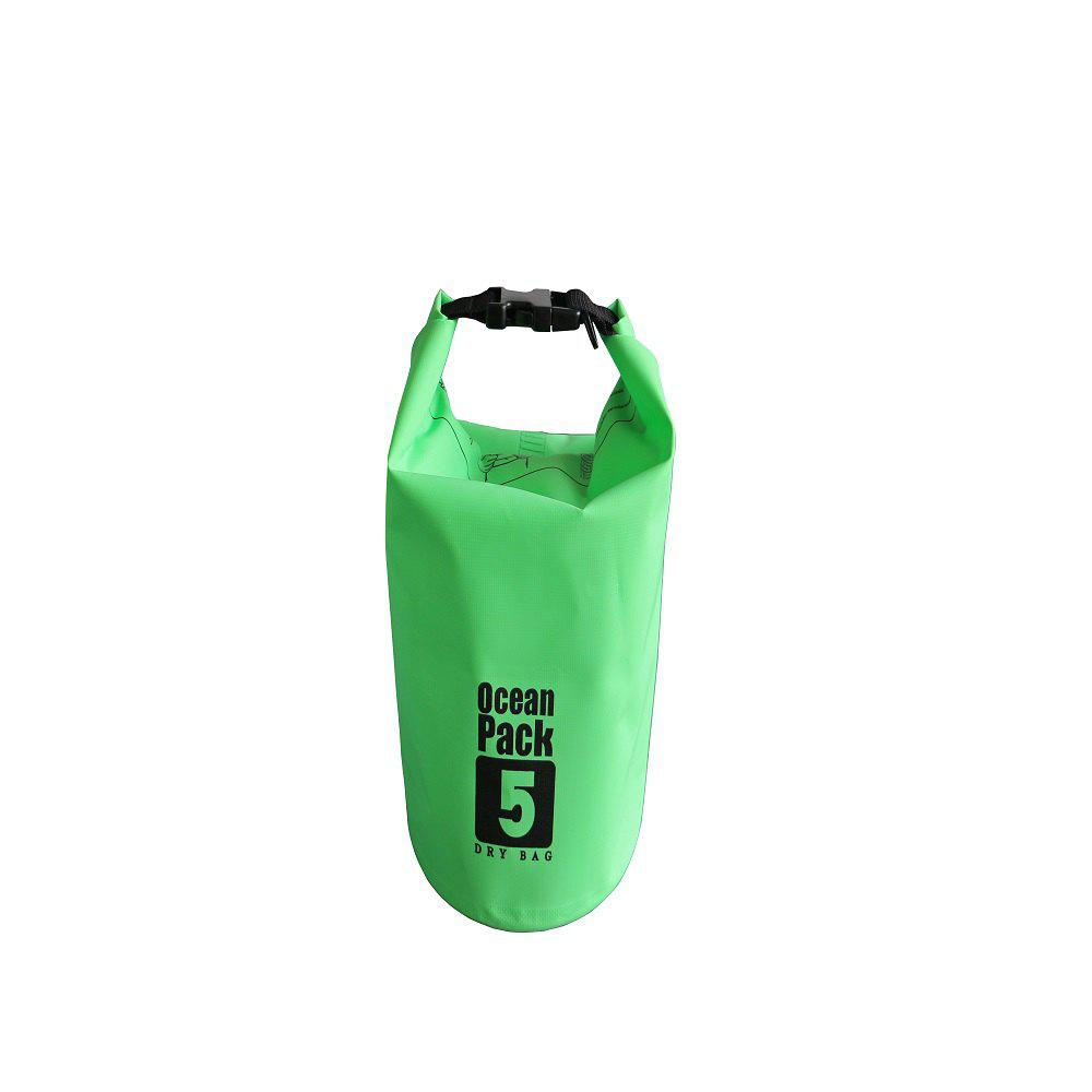 5L PVC Water Resistance Dry Bag Sack for Canoe Floating Boating - GREEN APPLE