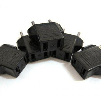 Small European Regulations Travel Conversion Plug - BLACK