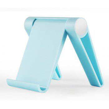 New Foldable Adjustable Phone Tablet Holder Desktop Stand Mount Portable - BLUE