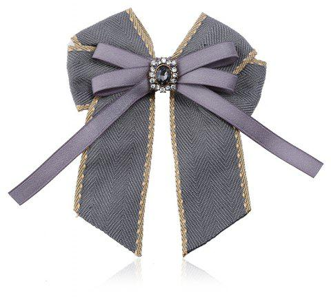Fine Necktie Bee Striped Brooch Accessories - GRAY
