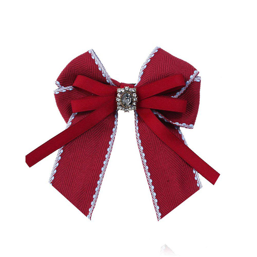 Fine Necktie Bee Striped Brooch Accessories - RED
